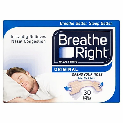 Breathe Right Snoring and Nasal Strips Large 30 Pack