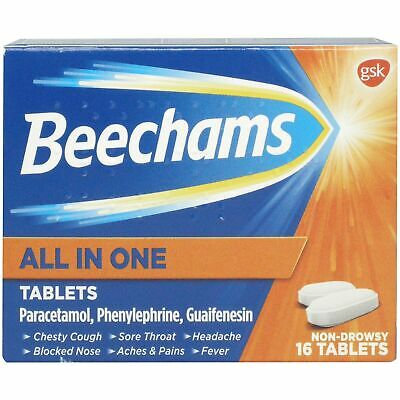 Beechams All in One Cold and Flu Tablets 16s