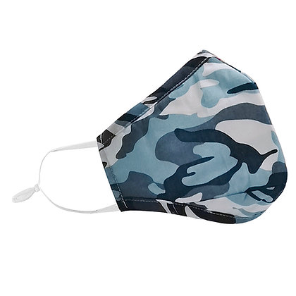 Reusable Junior Face Mask (Blue Camo)