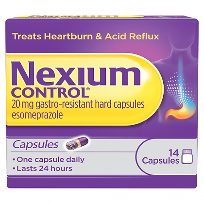 Nexium Control For Heartburn And Acid Reflux 20mg – 14 Capsules