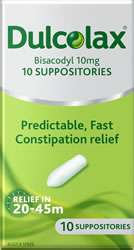 Dulcolax 10mg Suppositories - CLICK AND COLLECT