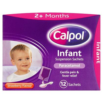 Calpol 2+ Infant Suspension Strawberry- 12 Sachets