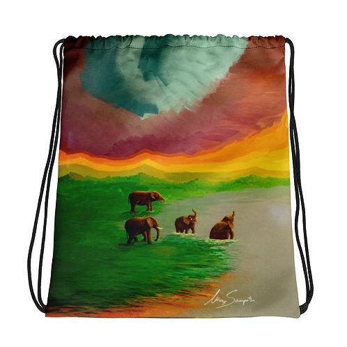 Elephants- Drawstring bag