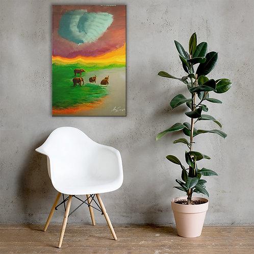 Elephants- Premium Canvas