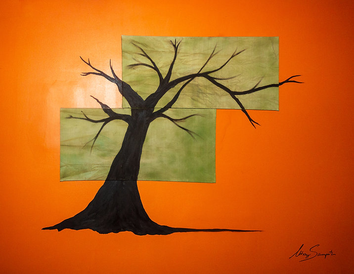 Tree | Art By Abhay- Mural oil painting