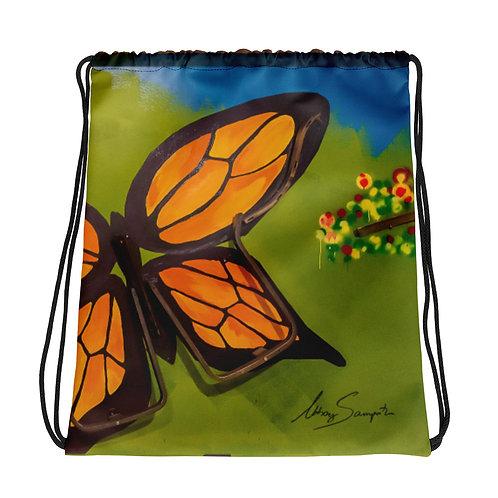 Butterfly- Drawstring bag