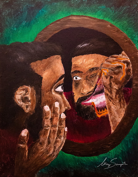 Sour Face | Art By Abhay- Acrylic Painting on Canvas