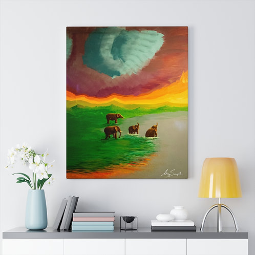 Elephants- Gallery Canvas