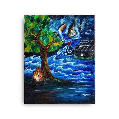 Exhale- Premium Canvas