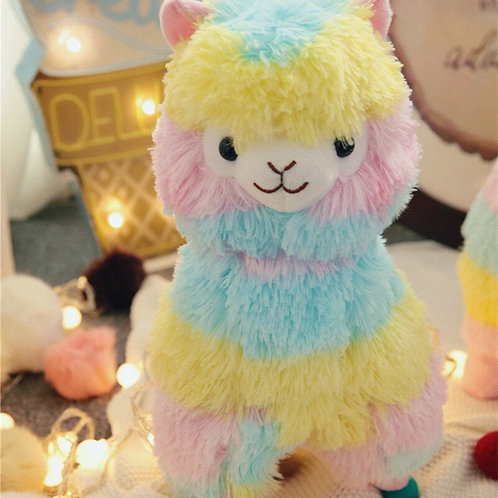 Rainbow Alpaca Plush Toy (20cm)