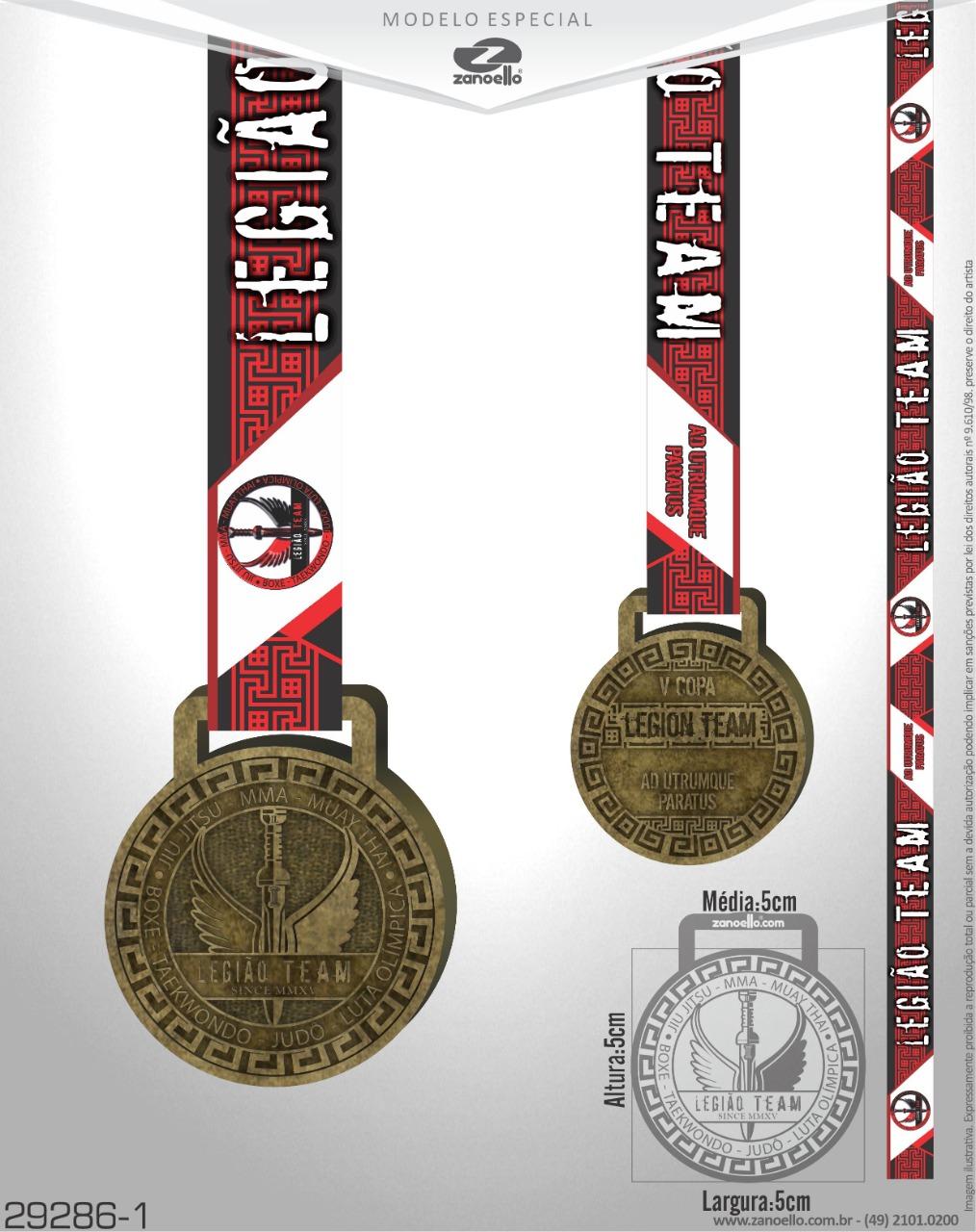 Medalhas V COPA LEGIÃO_08_12_19