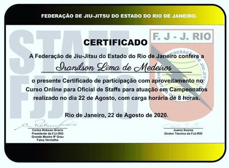 22.08.2020 CURSO DE OFICIAIS STAFFS - COFST DA FJJRIO