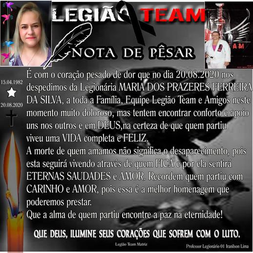 20.08.2020 LEGIÃO TEAM CD de CANGUARETAMA RN de LUTO