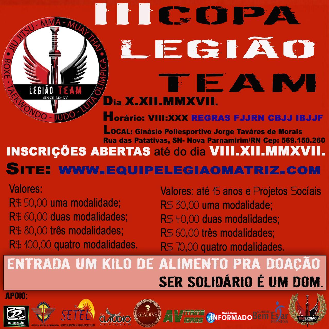 III COPA LEGIÃO TEAM