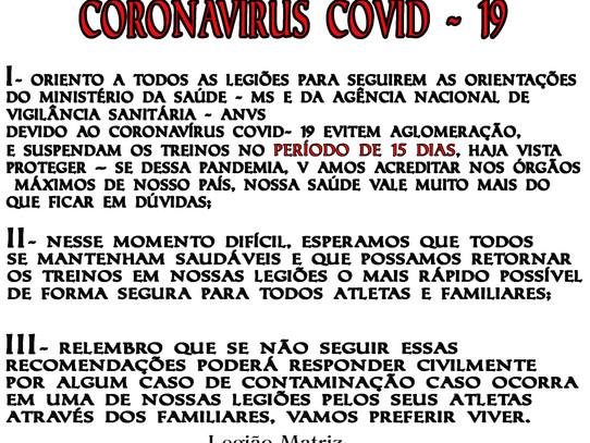 ORIENTAÇÃO sobre Coronavírus Covid- 19