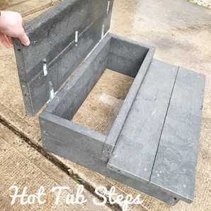 Hot Tub Steps Open