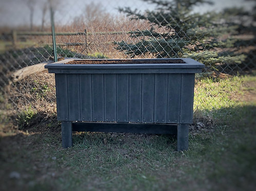 Raised 2' x 4' Recycled Plastic Garden Box