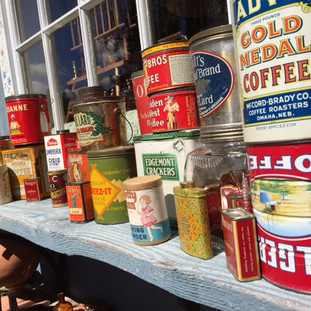 Part of the great selection of vintage cans.