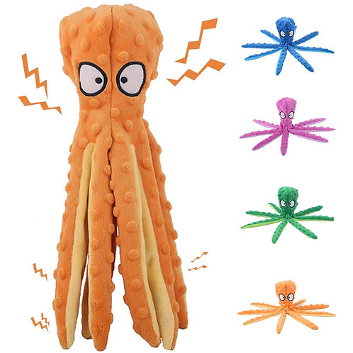 Octopus Dog Squeaky Toy