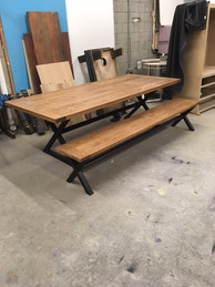 Oak Bench/Dining Table 2