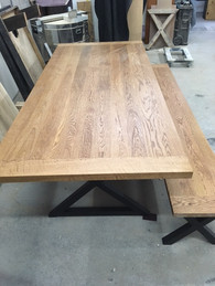 Oak Bench/Dining Table