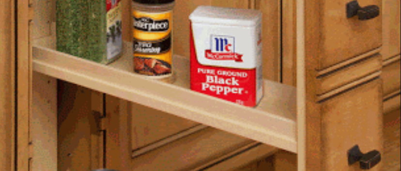 Narrow Spice Rack Pull Out