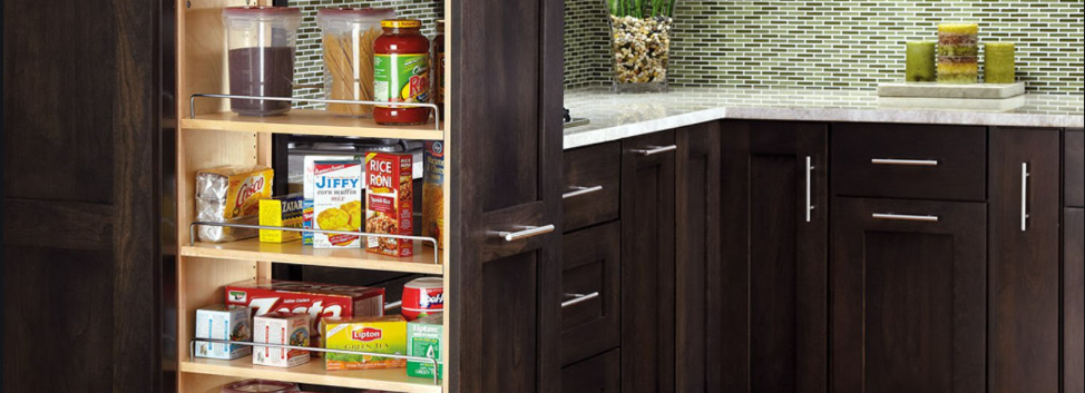 Narrow and Tall Pantry Pull Out