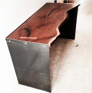 Live edge walnut and steel Desk
