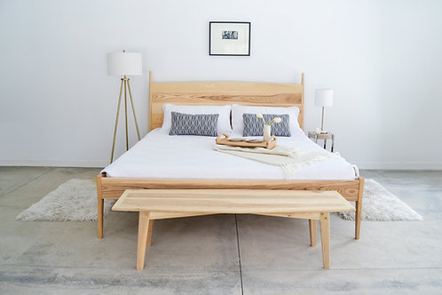 5° Ash queen size bed frame