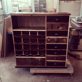 Reclaimed Wine Rack and Storage