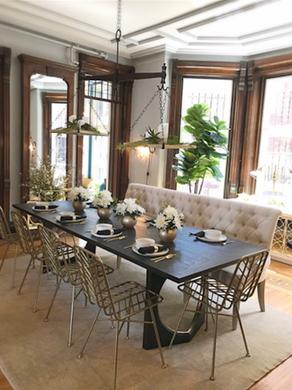 Ebonized oak Dining Table 2