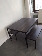 Weathered blue Dining Table/Bench