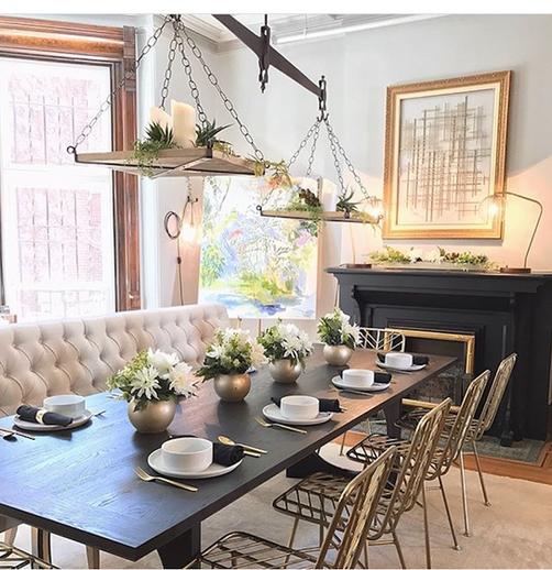 Ebonized oak Dining Table