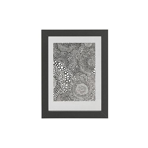 Fotolijst met houten rand - zwart - 40x30 cm