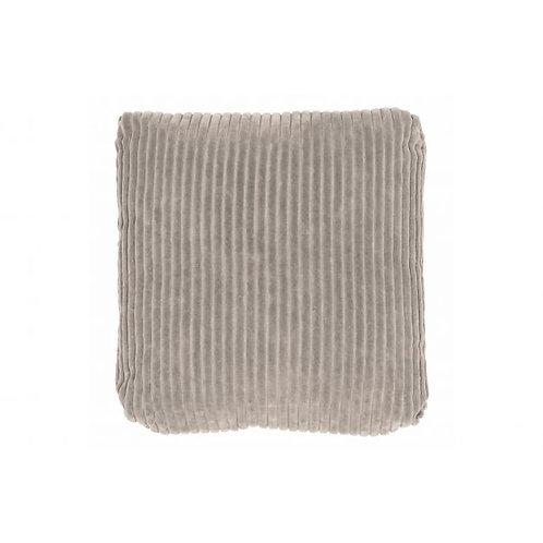 Kussen rib grijs 45x45