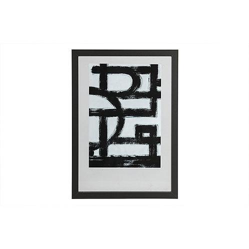 Fotolijst met houten rand - zwart - 70x50 cm