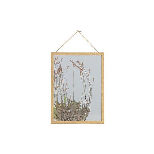 Fotolijst Bloemen met houten rand 40x30