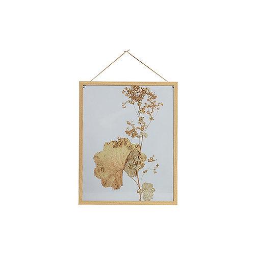 Fotolijst Bloemen met houten rand 50x40