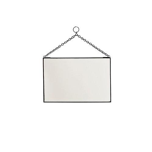 Spiegel zwart 30x20 cm
