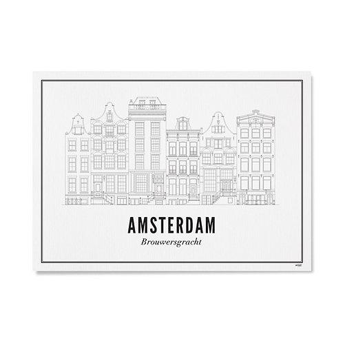 Poster - Brouwersgracht 50x70