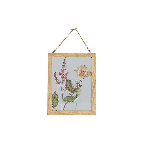 Fotolijst Bloemen met houten rand 23x18