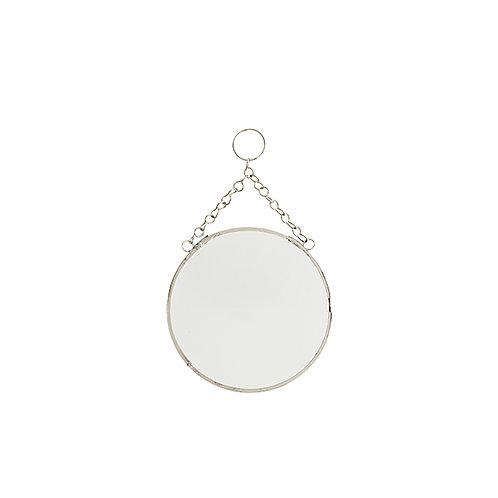 Spiegel rond, 15 cm, zilver