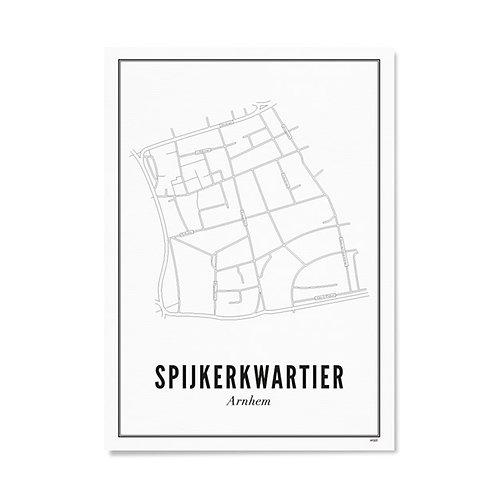 Poster - Arnhem Spijkerkwartier 21x30