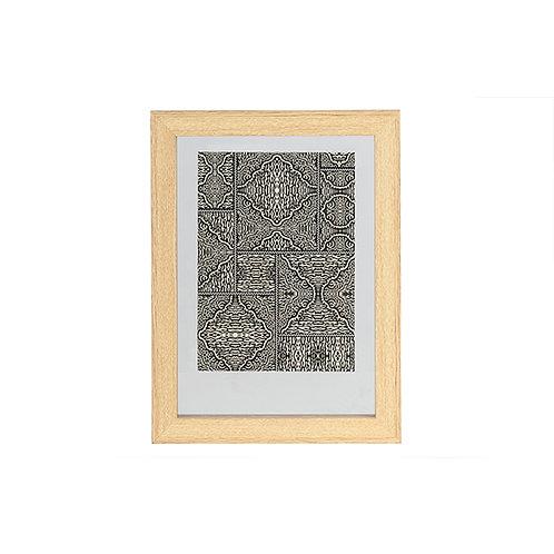 Fotolijst met houten rand - naturel - 40x30 cm