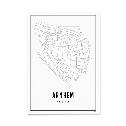 Poster - Arnhem centrum 21x30