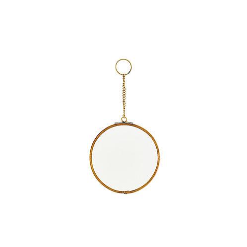 Spiegel, ant. brass, 10 cm