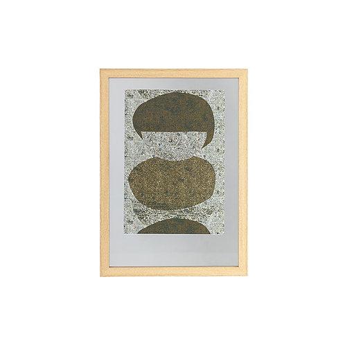 Fotolijst met houten rand - naturel - 70x50 cm