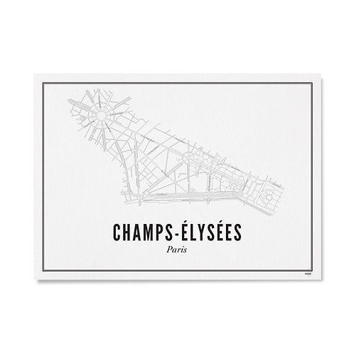 Poster - Champs-Elysees 40x50