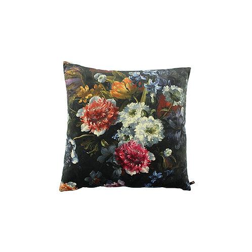 Kussen Flowers black 45x45
