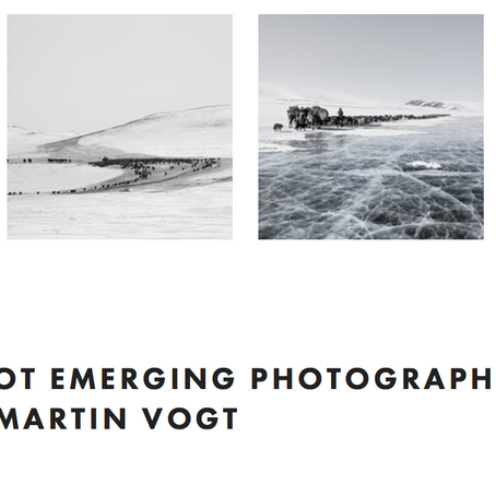 FEATURE SHOOT EMERGING PHOTOGRAPHY AWARDS CONTENDER: MARTIN VOGT